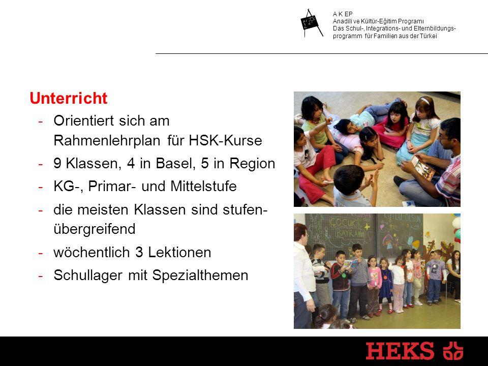 Unterricht Orientiert sich am Rahmenlehrplan für HSK-Kurse