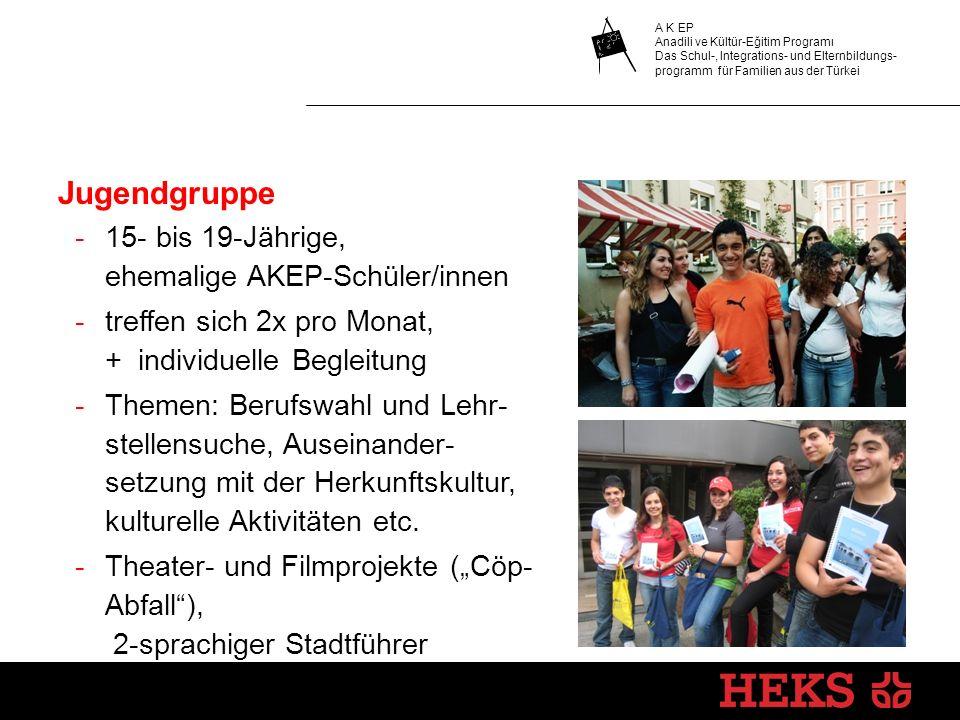 Jugendgruppe 15- bis 19-Jährige, ehemalige AKEP-Schüler/innen