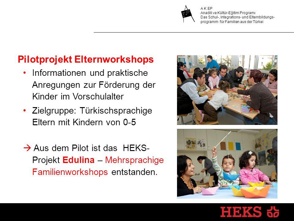 Pilotprojekt Elternworkshops