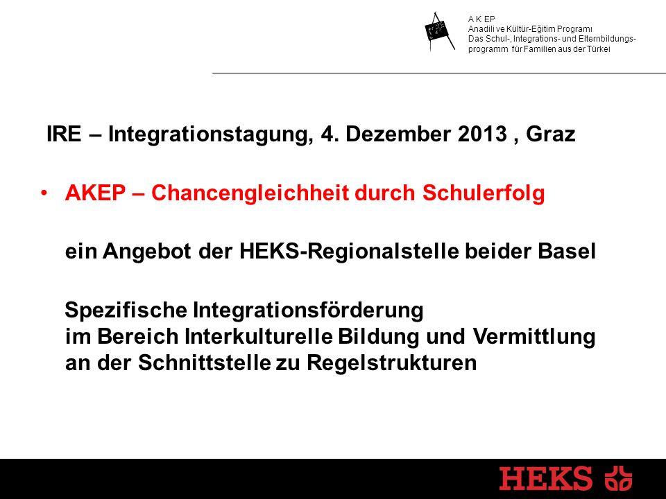 IRE – Integrationstagung, 4. Dezember 2013 , Graz