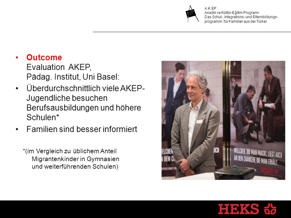 Outcome Evaluation AKEP, Pädag. Institut, Uni Basel: