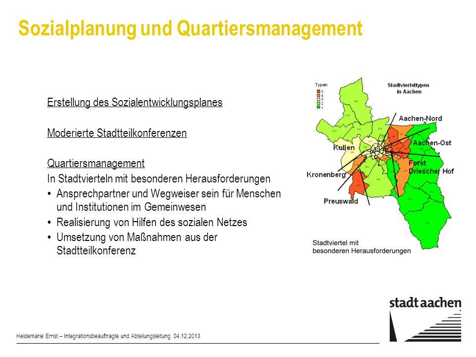 Sozialplanung und Quartiersmanagement