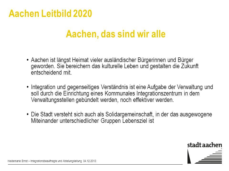 Aachen Leitbild 2020 Aachen, das sind wir alle
