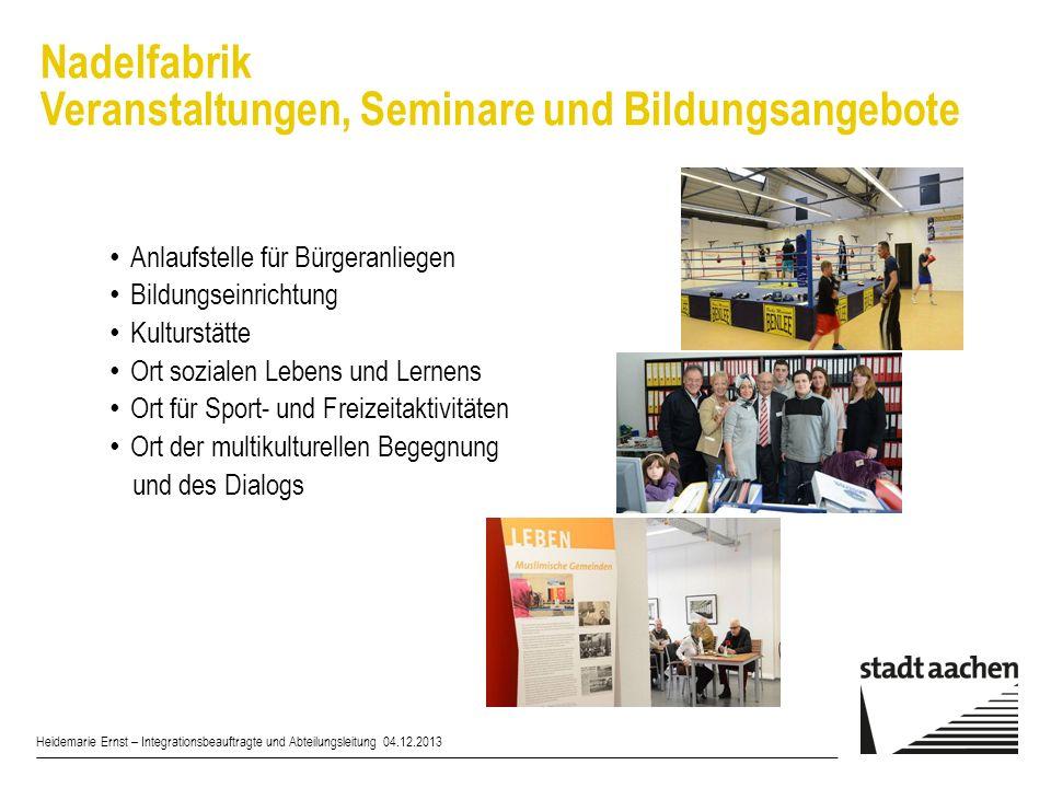 Nadelfabrik Veranstaltungen, Seminare und Bildungsangebote