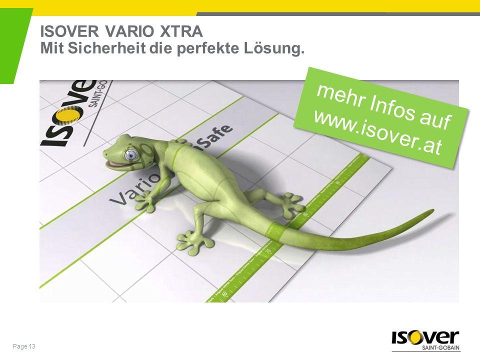 ISOVER VARIO XTRA Mit Sicherheit die perfekte Lösung.