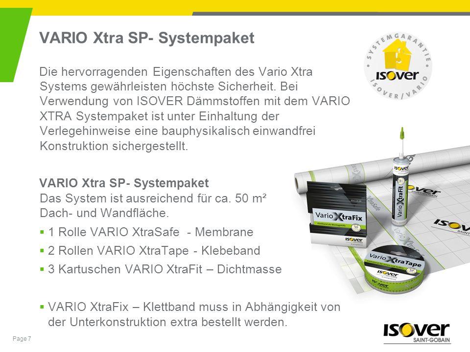 VARIO Xtra SP- Systempaket