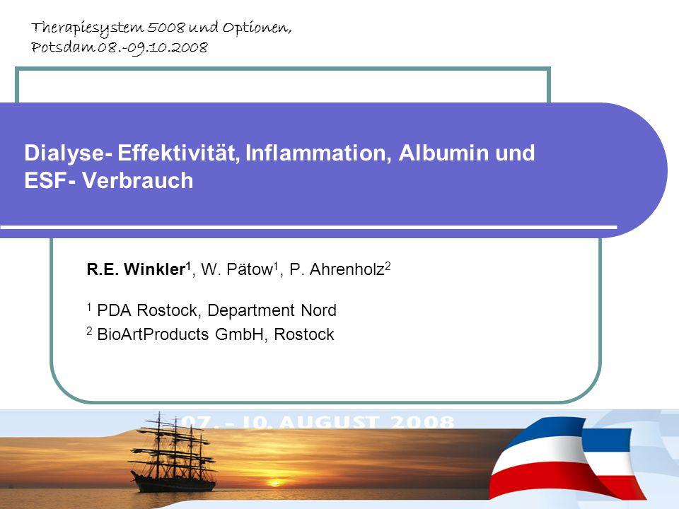 Dialyse- Effektivität, Inflammation, Albumin und ESF- Verbrauch