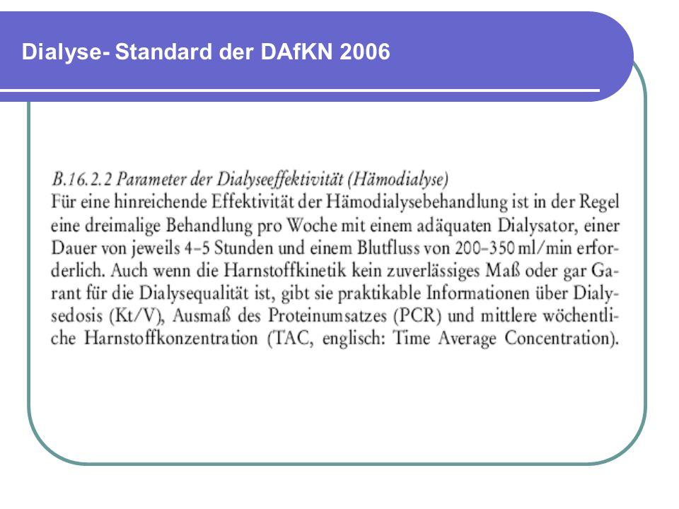 Dialyse- Standard der DAfKN 2006