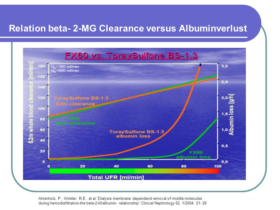 Relation beta- 2-MG Clearance versus Albuminverlust