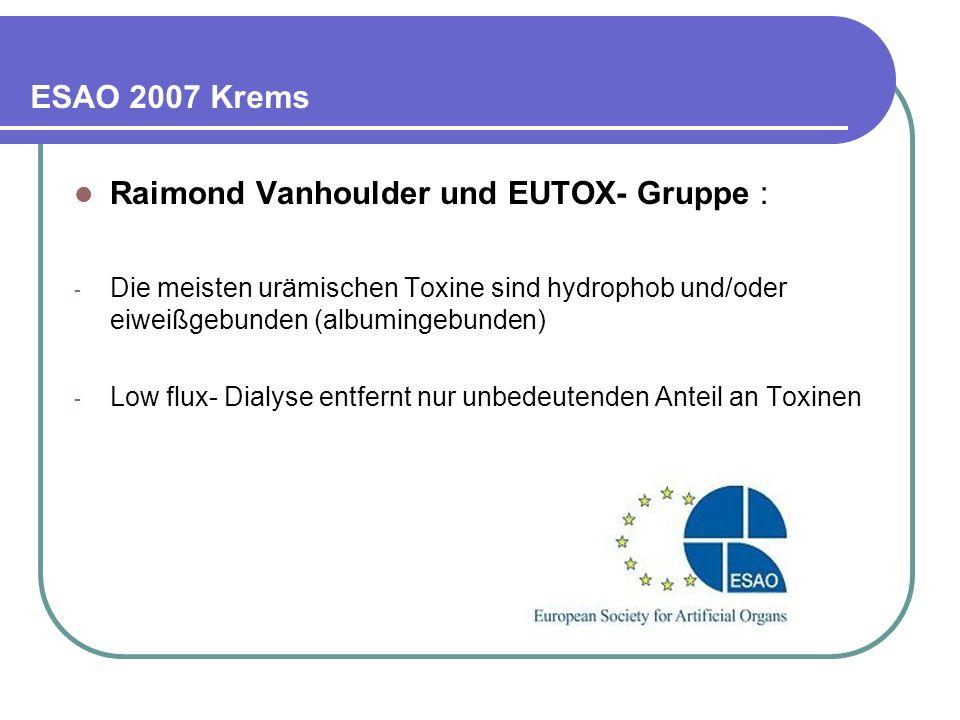Raimond Vanhoulder und EUTOX- Gruppe :