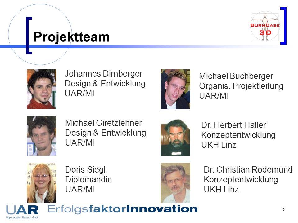 Projektteam Johannes Dirnberger Design & Entwicklung UAR/MI