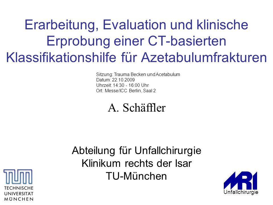 Erarbeitung, Evaluation und klinische Erprobung einer CT-basierten Klassifikationshilfe für Azetabulumfrakturen