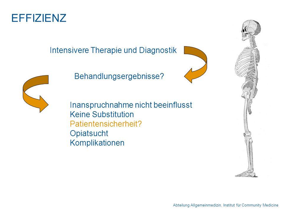 EFFIZIENZ Intensivere Therapie und Diagnostik Behandlungsergebnisse