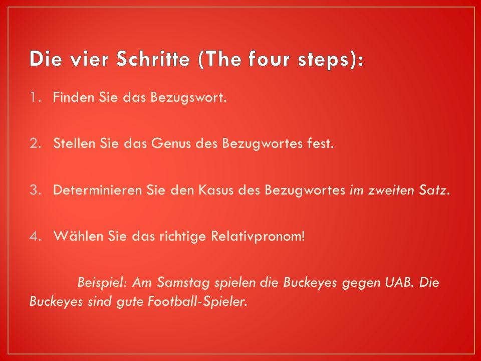 Die vier Schritte (The four steps):