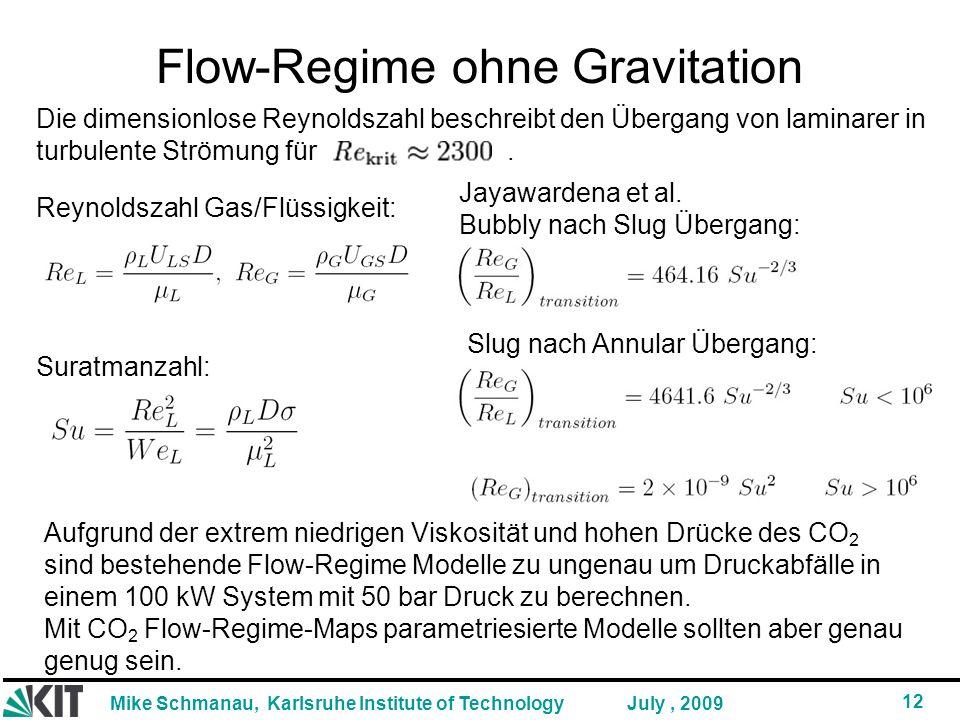 Flow-Regime ohne Gravitation