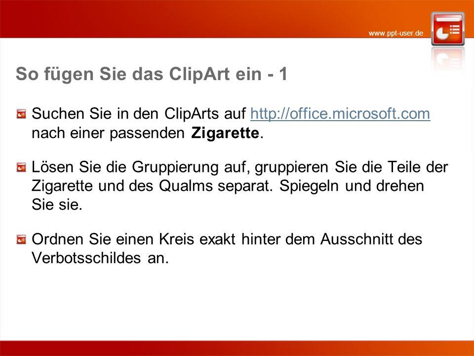 So fügen Sie das ClipArt ein - 1