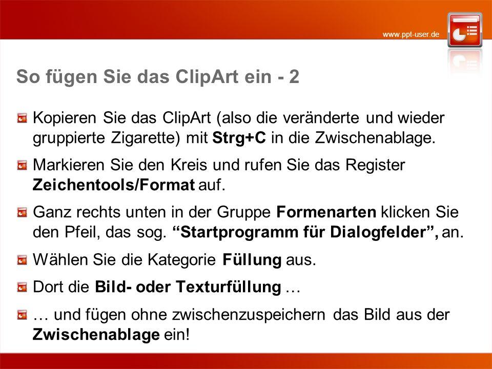 So fügen Sie das ClipArt ein - 2