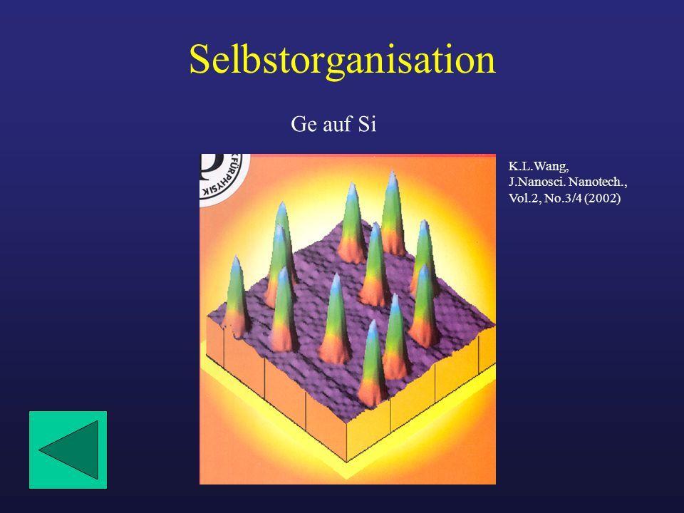 Selbstorganisation Ge auf Si K.L.Wang, J.Nanosci. Nanotech.,