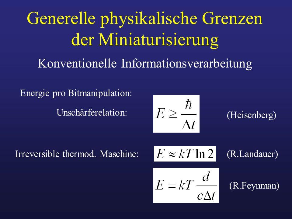 Generelle physikalische Grenzen der Miniaturisierung
