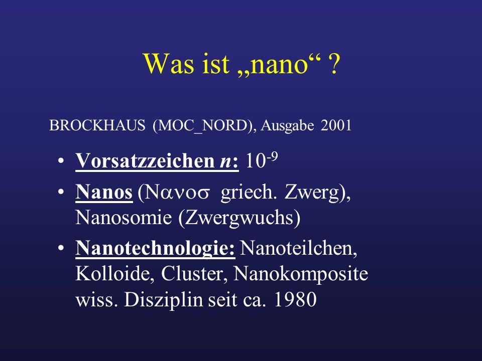 """Was ist """"nano Vorsatzzeichen n: 10-9"""