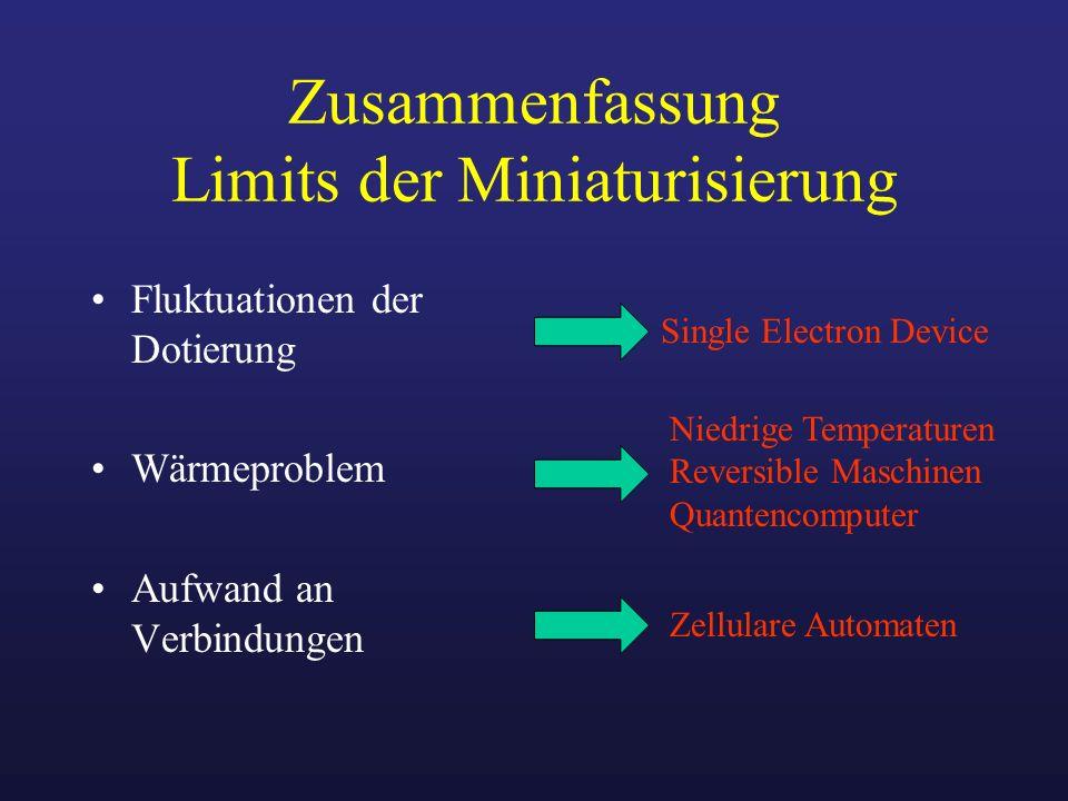 Zusammenfassung Limits der Miniaturisierung