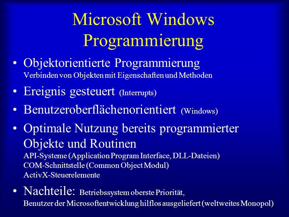 Microsoft Windows Programmierung