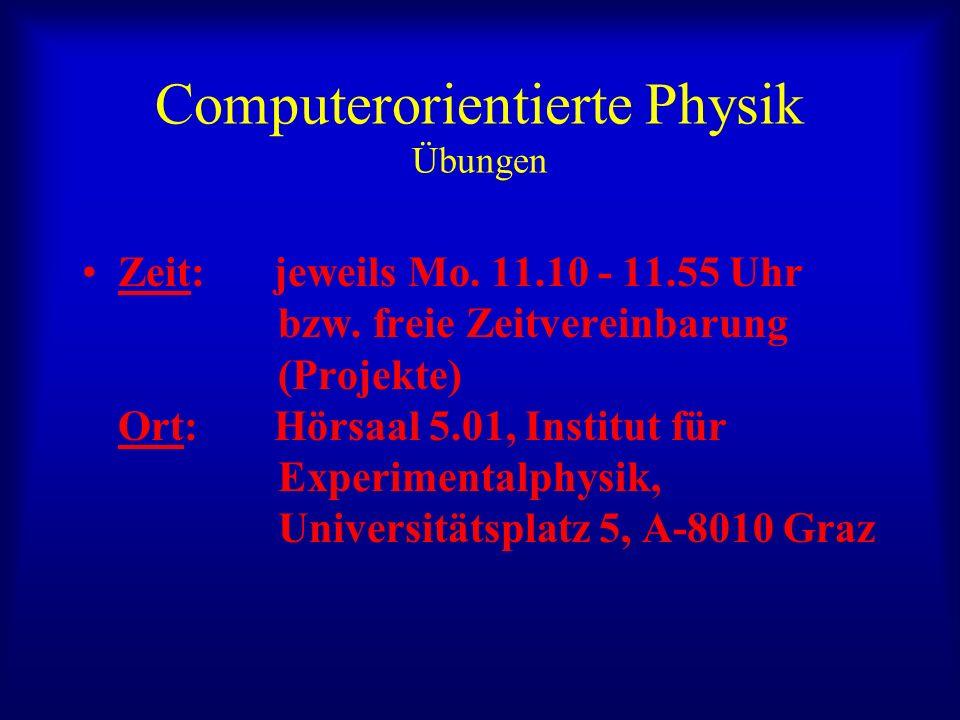 Computerorientierte Physik Übungen
