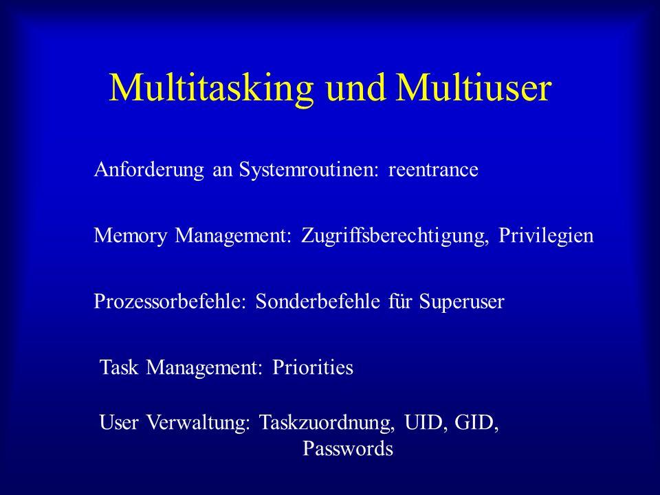 Multitasking und Multiuser