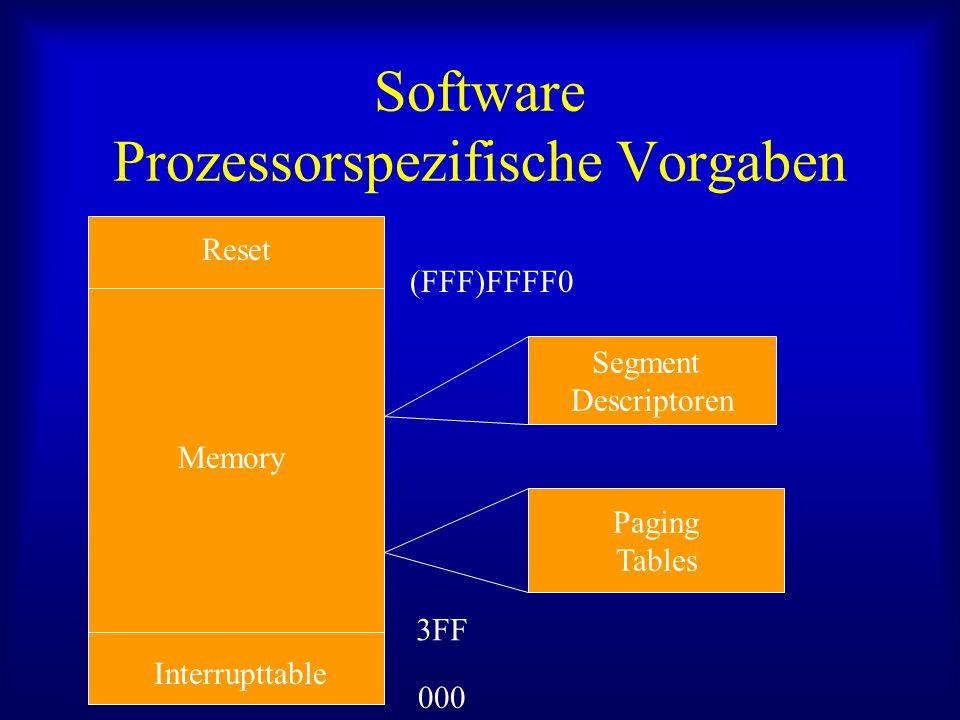 Software Prozessorspezifische Vorgaben
