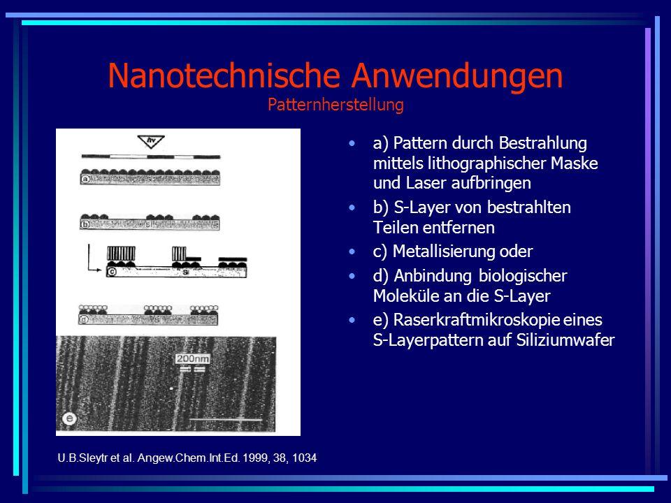 Nanotechnische Anwendungen Patternherstellung