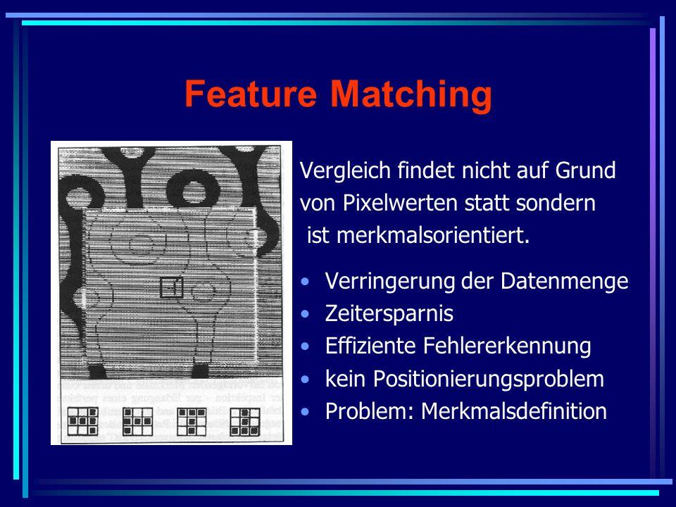 Feature Matching Vergleich findet nicht auf Grund