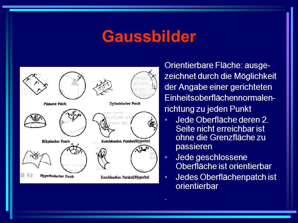 Gaussbilder Orientierbare Fläche: ausge-