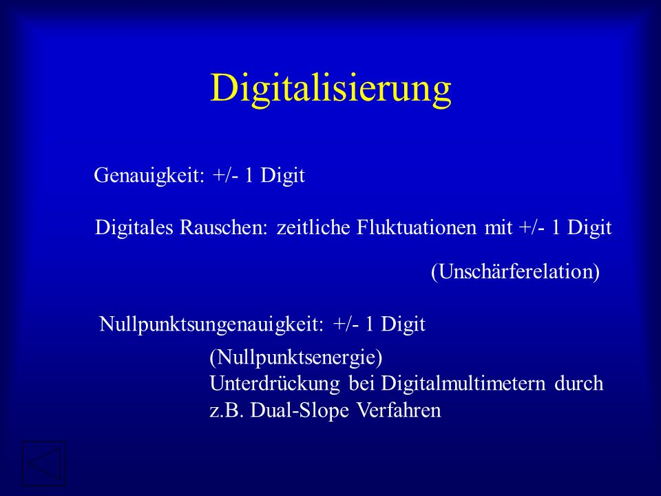 Digitalisierung Genauigkeit: +/- 1 Digit