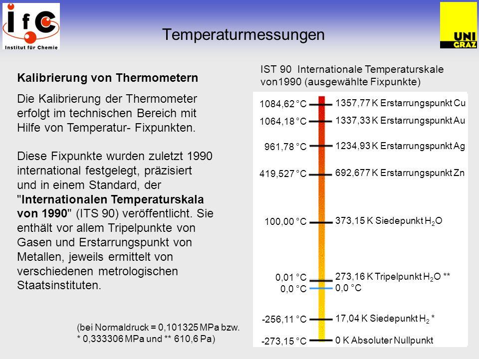 Temperaturmessungen Kalibrierung von Thermometern