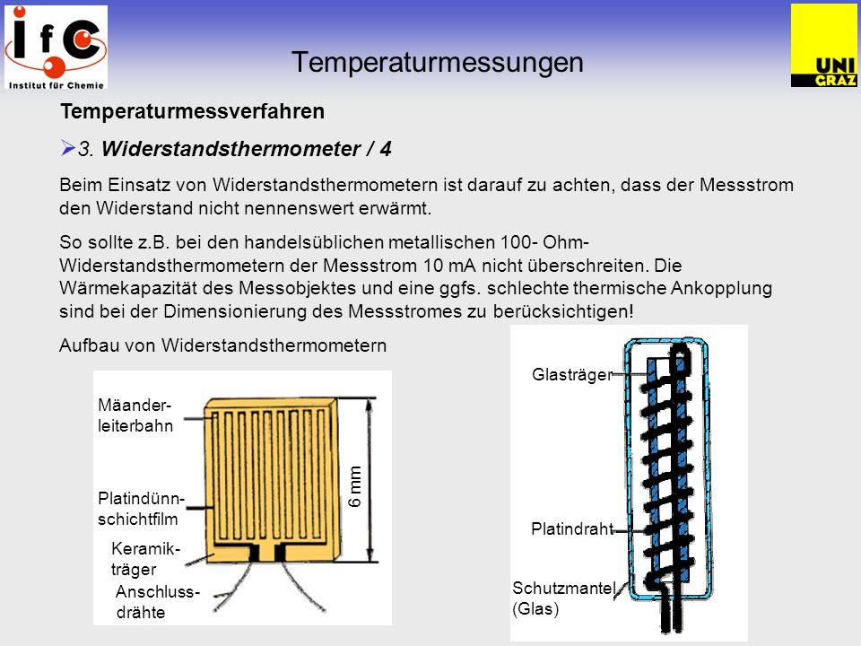Temperaturmessungen Temperaturmessverfahren