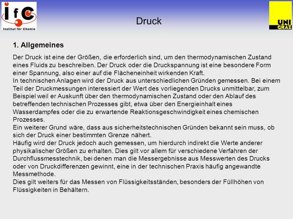 Druck 1. Allgemeines.