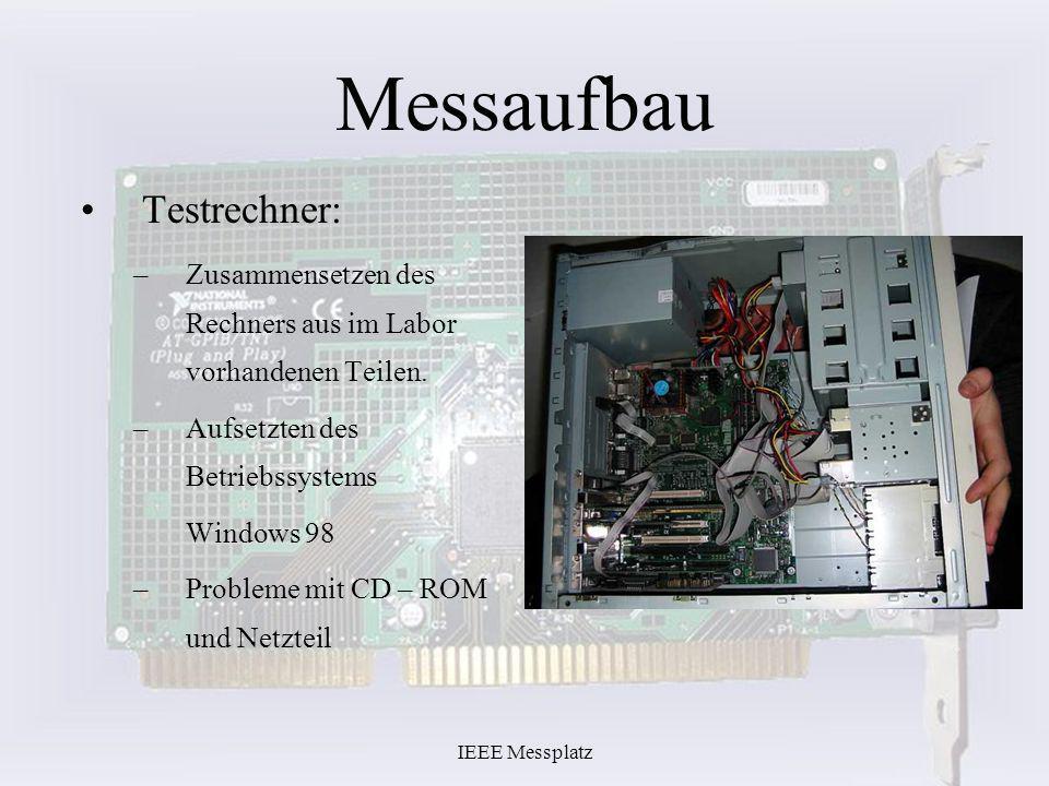 Messaufbau Testrechner: