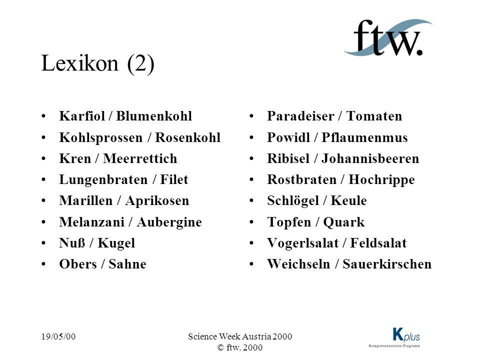 Lexikon (2) Karfiol / Blumenkohl Kohlsprossen / Rosenkohl