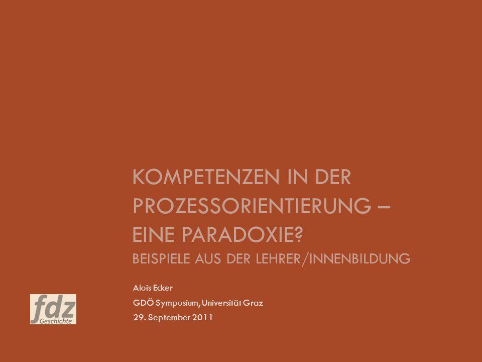 Alois Ecker GDÖ Symposium, Universität Graz 29. September 2011