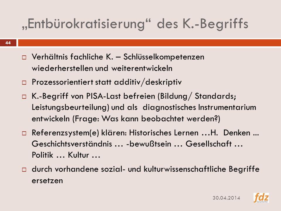 """""""Entbürokratisierung des K.-Begriffs"""