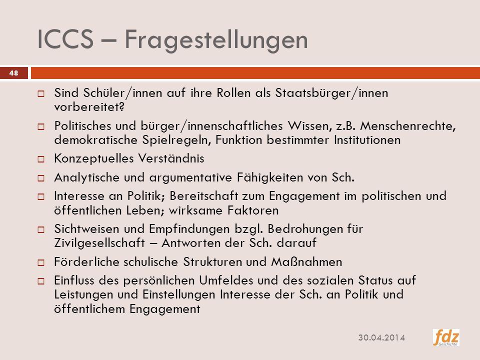ICCS – Fragestellungen