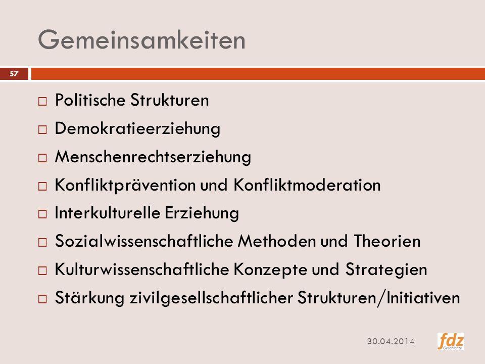 Gemeinsamkeiten Politische Strukturen Demokratieerziehung