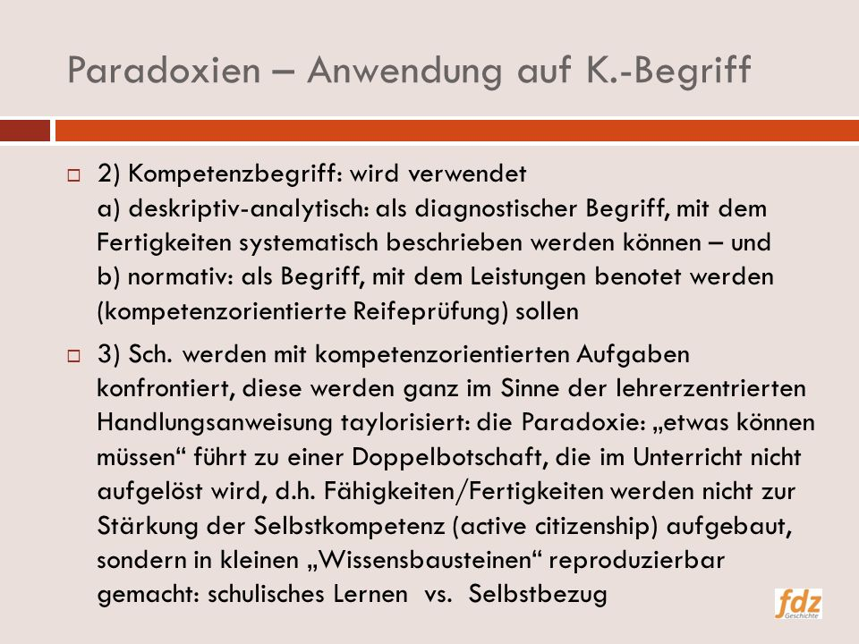 Paradoxien – Anwendung auf K.-Begriff