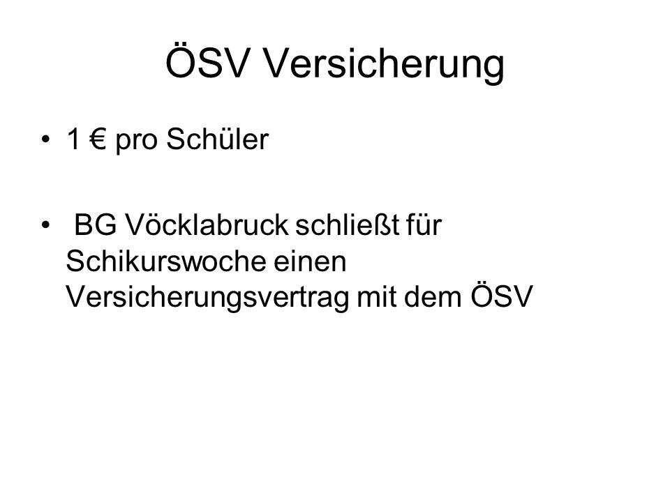 ÖSV Versicherung 1 € pro Schüler