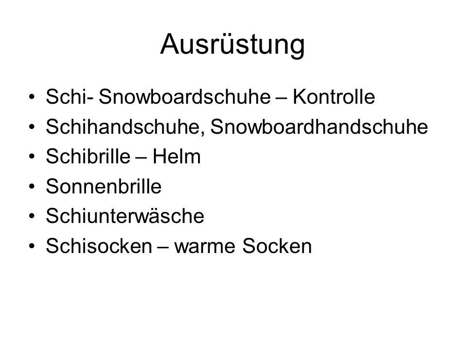Ausrüstung Schi- Snowboardschuhe – Kontrolle