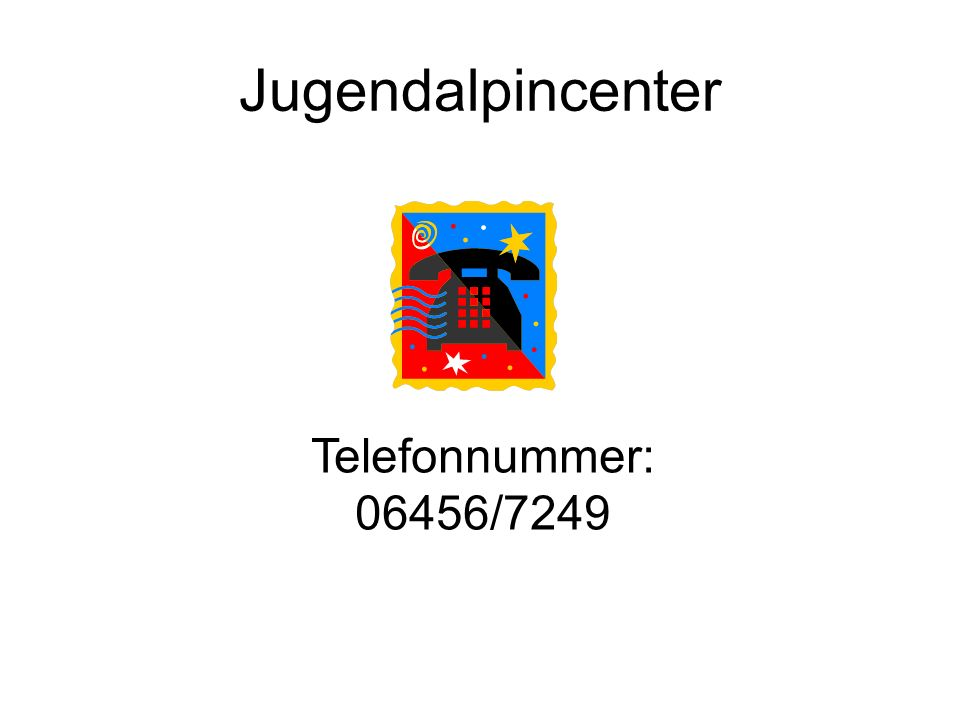 Jugendalpincenter Telefonnummer: 06456/7249