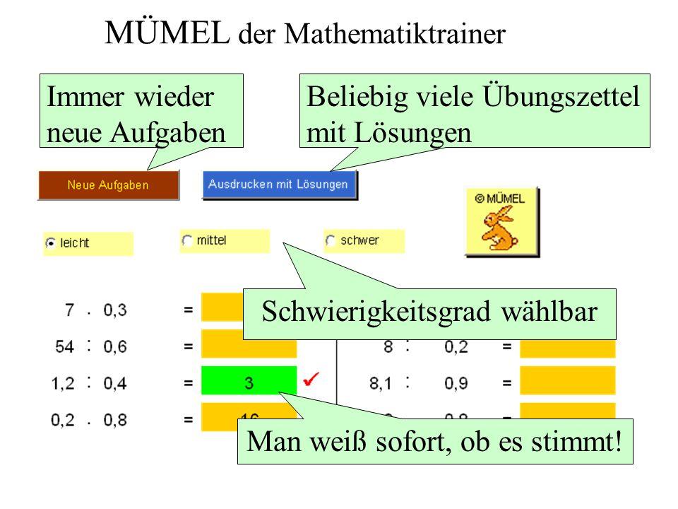 MÜMEL der Mathematiktrainer
