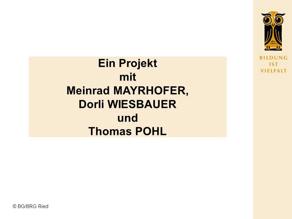 Ein Projekt mit Meinrad MAYRHOFER, Dorli WIESBAUER und Thomas POHL
