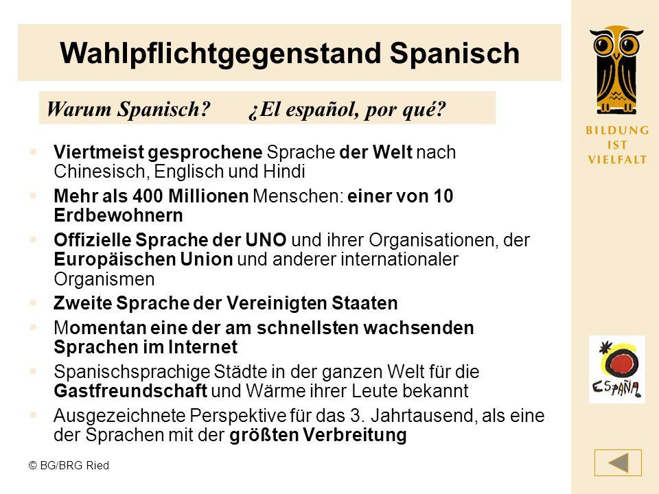 Wahlpflichtgegenstand Spanisch