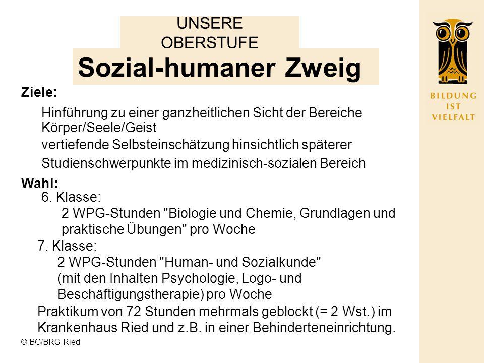 Sozial-humaner Zweig UNSERE OBERSTUFE Ziele: